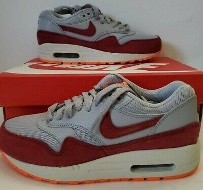 Mexico Tejido milagro  Nike Wmns Air Max 1 Essential Wolf Grey Team Red 599820-015 Running Shoes  6.5 8 | eBay