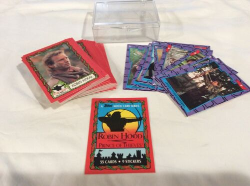 Details about  /Robin Hood Prince of Thieves Trading Cards Complete Set 55 cards 9 stickers 1991