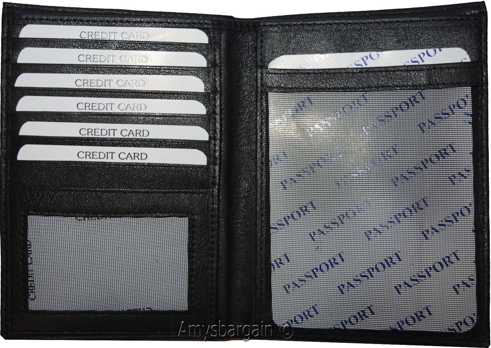 Nouveauté Agneau Peau Canadien Cuir Passport Passport Passport Portefeuille Etui Carte de Crédit 155811