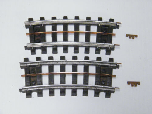 2 LIONEL # 33 CURVED SUPER O HALF TRACK WITH ALL RAIL PINS /& BUS BAR CLEANED