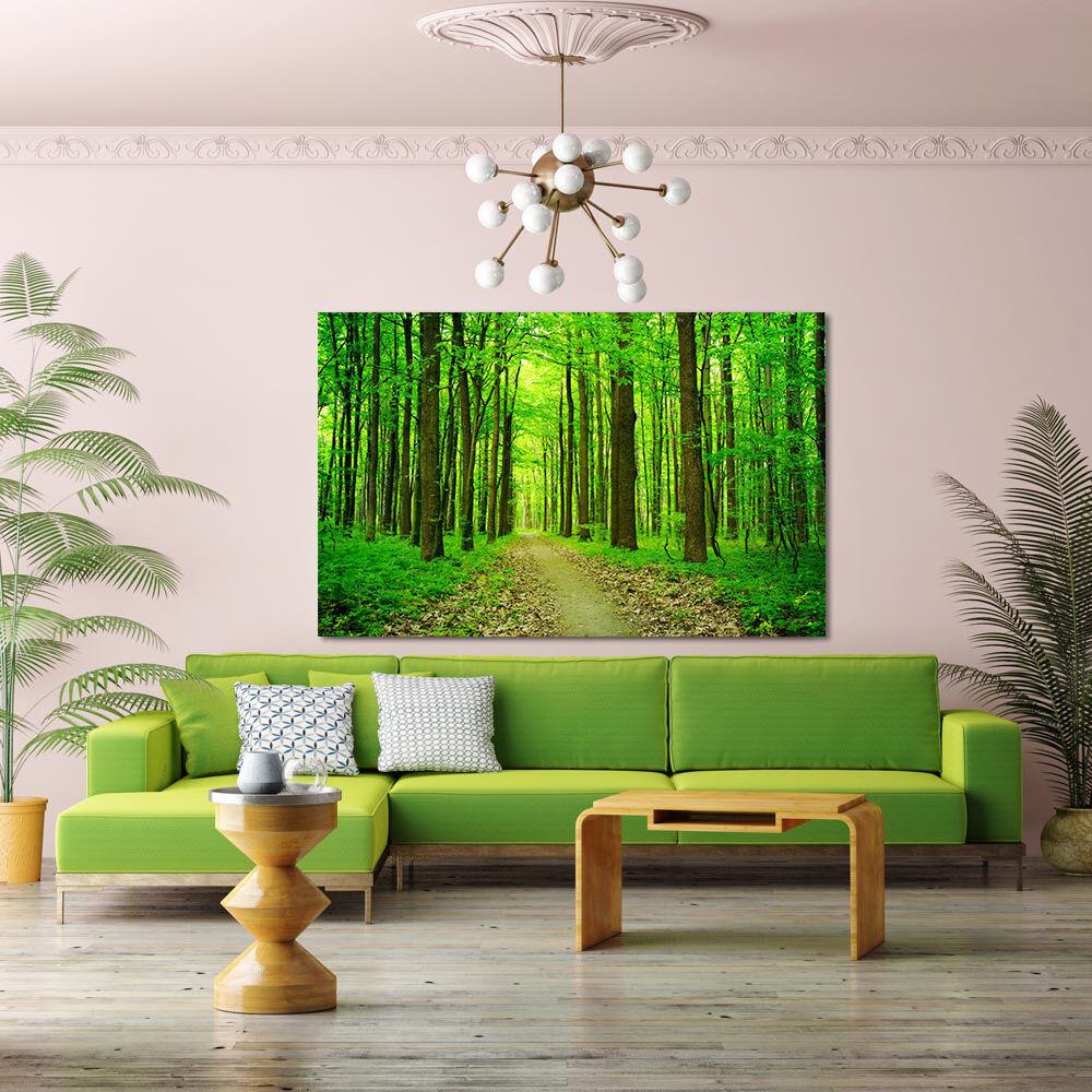 3D Frühling Üppiger Grün Wald 7 Fototapeten Wandbild BildTapete AJSTORE DE Lemon