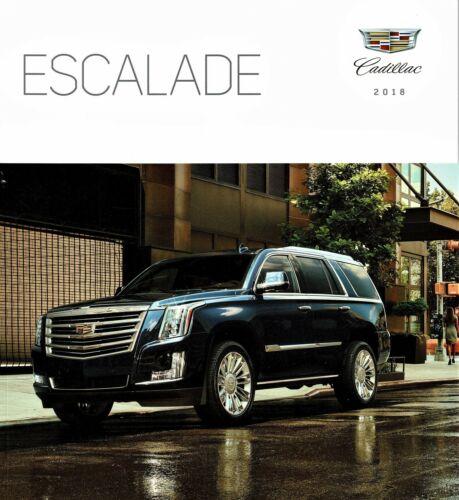 2018 Cadillac Escalade Luxury Premium Luxury Platinum Dealer Sales Brochure