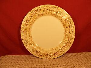 Image is loading Euro-Ceramica-Dinnerware-Vineyard-Pattern-Dinner-Plate-11- & Euro Ceramica Dinnerware Vineyard Pattern Dinner Plate 11\