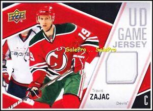 UPPER-DECK-2011-TRAVIS-ZAJAC-NHL-NY-DEVILS-AUTHENTIC-UD-GAME-JERSEY-GJTS