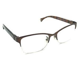 7587ca6aa0 COACH HC 5038 Montana 9076 Satin Brown Half-Rimless Eyeglasses ...