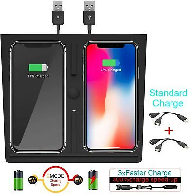 Wireless Charger for Tesla Model 3, Dual QI Wireless Phone ...