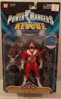 Power Rangers Lightspeed Rescue - 5 Rescue Armor Red Ranger Figure Bandai (moc)