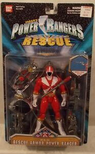 Power Rangers Lightspeed Rescue - Figurine Ranger Armour Rouge de 5   Power Rangers Lightspeed Rescue - 5