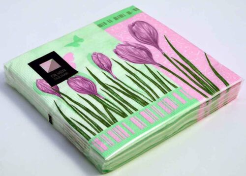 100 x Tulip 3 Ply Paper Napkins 33cm x 33cm Party Serviettes Tableware Catering