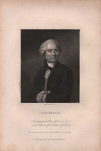 1834 Georgianisch Porträt Aufdruck ~ D'Alembert