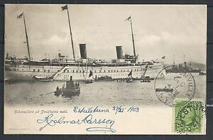 Sweden covers 1903 PPC SS Höhenzollern sent to Ransomville
