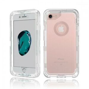 official photos b5857 ec523 Details about Clear White For Apple iPhone 8 Defender Case w/ Clip Fits  Otterbox