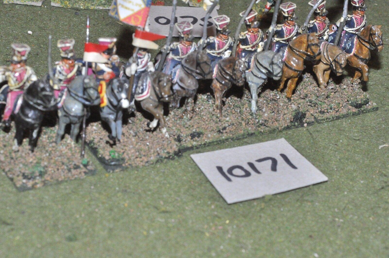 25mm napoleonic   polish - lancers 10 cavalry - cav (10171)