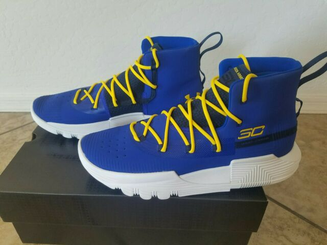 curry shoes blue and white