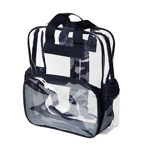 9d1412fd73e Adult Sized 14+ High School Clear Backpack Transparent Security Book ...