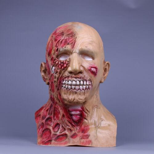 Zombie Halloween Masque Latex Horreur Tête Complète Masque Cosplay Effrayant Walker Mask Prop