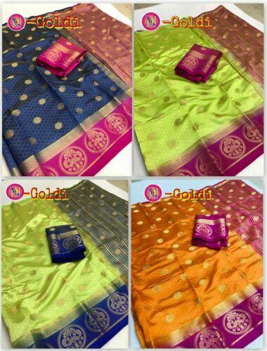 Indian Pakistani Saree Bollywood Designer Ethnic Kanjivaram Tussar Silk Sari RF