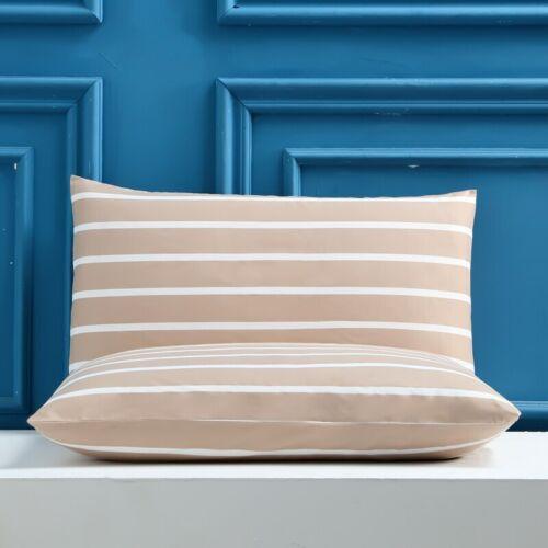 Polyester impression taies housses pour coussins géométriques Tissé Taie d/'oreiller 2Pc
