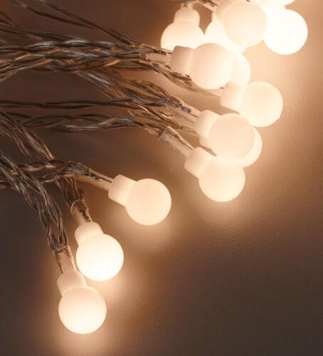 ® 80 LED Lichterkette 11m warmweiß Kugelkette  Garten Party Beleuchtung in.tec