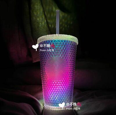 2020 China Starbucks Aurora 16oz Blue//Pink Grande 24oz Red Studded Tumbler