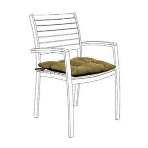 Olive 1pk Résistant à L'eau Touffeté Jardin Intérieur Fauteuil Siège Pad Coussin Patio-afficher Le Titre D'origine
