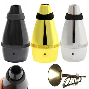 Practice-Trumpet-Mute-Light-Weight-Plastic-Straight-Silencer-For-Instrument-New