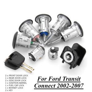 Conjunto-Completo-De-Cerradura-De-Cerradura-Capo-De-Combustible-amp-2-Llaves-Para-Ford-Transit