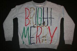 NEW-Gymboree-Girls-Bright-amp-Merry-Sweatshirt-Top-Holiday-Gold-Glitter-4-8-12-14