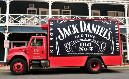 Laminate or Vinyl JACK DANIELS STICKER Choose Craft 12cm x 9cm Free Post
