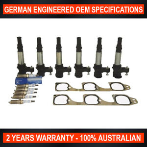 Holden-Commodore-VZ-RA-Ignition-Coils-x-6-Genuine-GM-Spark-Plugs-Inlet-Gasket
