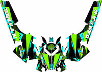 2010-2015 Polaris Rmk Pro Graphic Kit Wrap Decals Stickers Retro D1 Design B.a.w