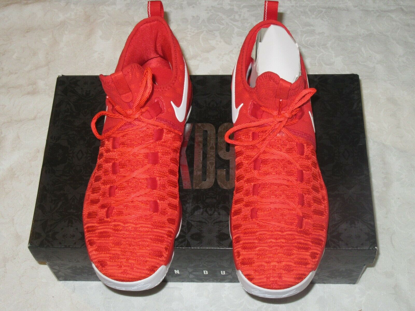 Nike Zoom KD 9 University Red White 843392 611 Men's US Size 11 Sneakers