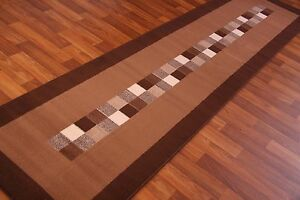 Dark-Chocolate-Brown-Modern-Long-Hall-Runner-Rug-Cheap-Carpet-Mats-New-9-Sizes