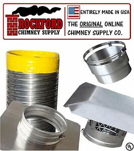 6 In X 20 Ft Smoothwall Chimney Liner Kit 2 Ply 013