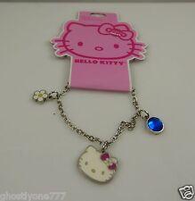 Hello Kitty charm crystal  bracelet flower daisy bow Sanrio