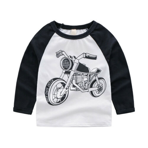 I bambini cotone manica lunga T Shirt COOL Bambini Ragazzi Ragazze Cotone Tee Top vestiti