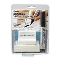 Shachihata Security Stamp Kit Large W/marker 1x2-13/16 Black 35303 on sale