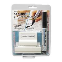 Shachihata Security Stamp Kit Large W/marker 1x2-13/16 Black 35303 on sale