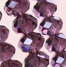 New 70pcs Medium-Purple Faceted Austria Crystal Gemstone Loose Beads 6x8mm