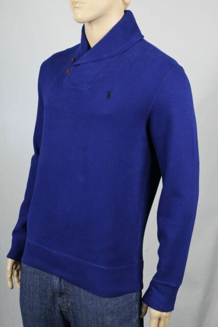 Polo Ralph Lauren Small S Royal Blue Shawl Collar Sweater NWT