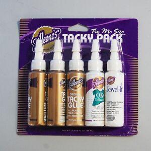 Aleene-039-s-Tacky-Glue-Kleber-Set-5-Kleber-x-19-6-ml-Original-Wash-It-Jewel-It