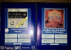 2-NEW-SEALED-CLIMAX-BLUES-BAND-8-TRACK-TAPES-FM-LIVE-SENSE-OF-DIRECTION-NEW