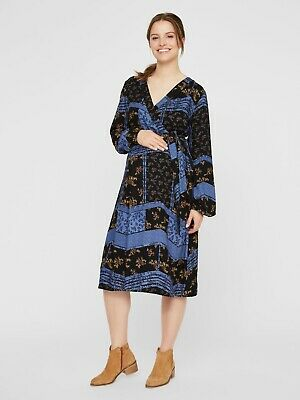 BNWT Mamalicious Maternity Strappy Dress Summer Beach Party £45 RRP Blue