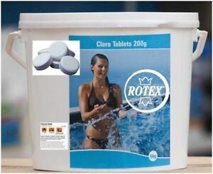 Tricloro-cloro-90-piscina-pastiglie-gr-200-pastiglioni-per-piscine-kg-5-Rotex