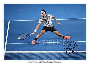 Roger Federer Aus Open Tennis Signed Autographed A4 Photo Print Poster Autograph