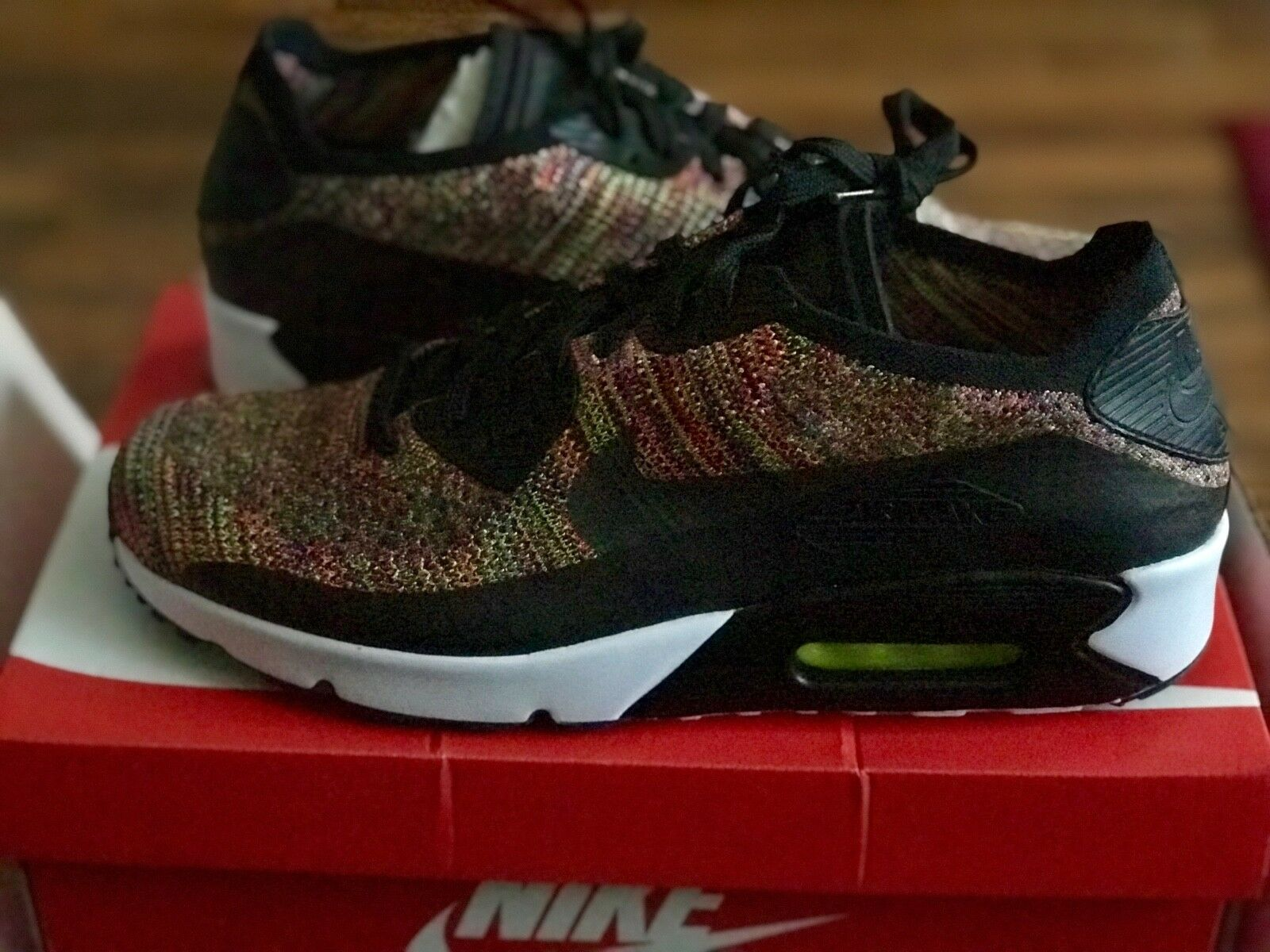 nike Air Max 90 Ultra 2.0 Flyknit MULTI COLOR MENS SIZE US 12  875943-002