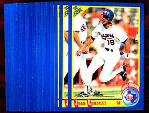 1990-Score-JUAN-GONZALEZ-RC-20-CARDS-LOT-TEXAS-RANGERS-STAR-POWER-HITTER