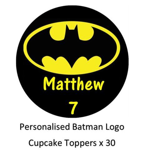 Batman logo personnalisée cupcake toppers comestible gaufre papier achetez 2 obtenez 3rd gratuit!