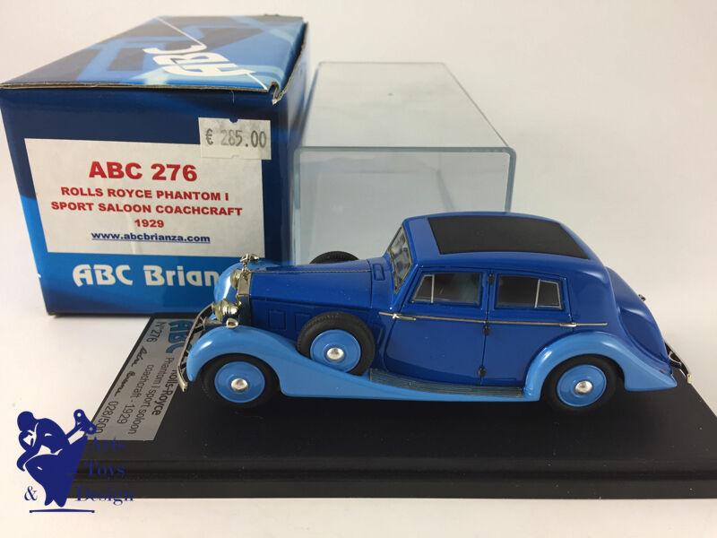 1/43 ABC 276 NO FYP  ROLLS ROYCE PHANTOM I SPORT SALOON COACHCRAFT 1929 | L'apparence élégante  | Forme élégante  | Matériaux Soigneusement Sélectionnés