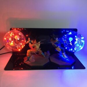 Led Lamps Dragon Ball Z Vegeta Super Saiyan Power Up Led Night Light Dbz Evil Vegeta Action Figure Lamp Led Bedroom Decoration Gift